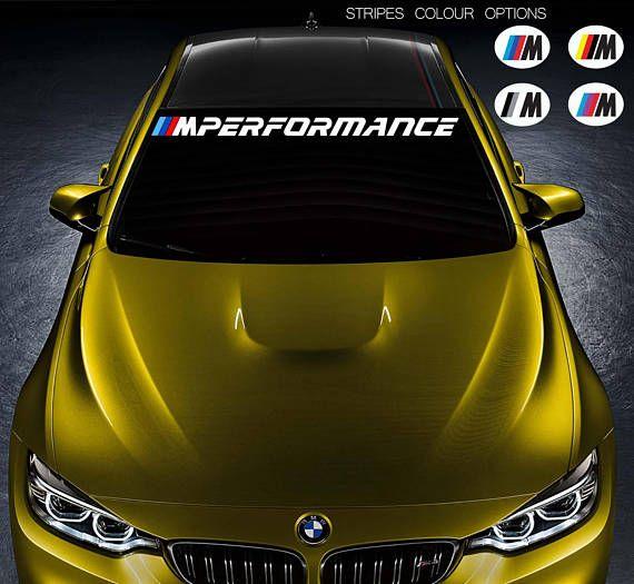 For Bmw M Performance Car Vinyl Sticker Bumper Windshield Banner Jdm Decal Bmw Car Window Stickers Car