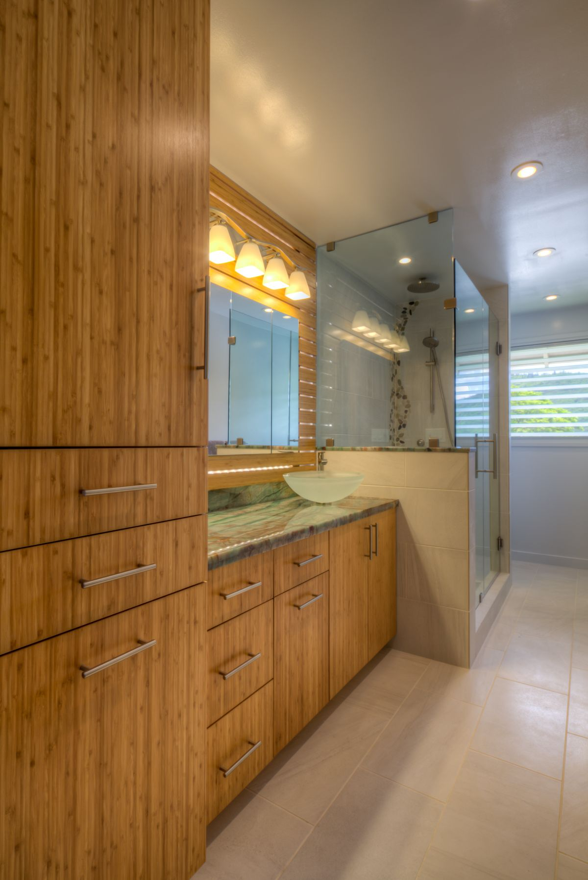 This is a bathroom renovation we did in Hawaii. It ...