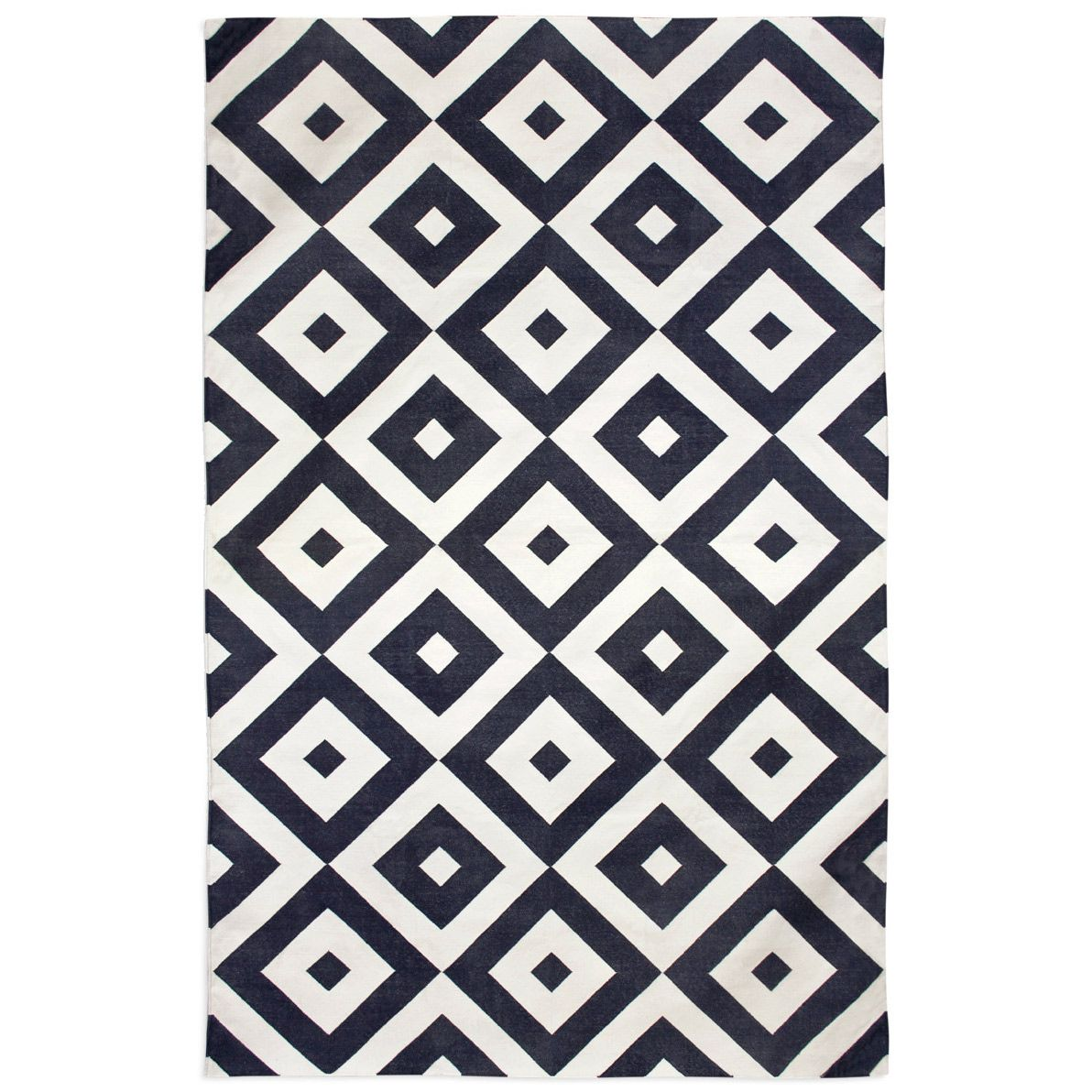 Jonathan Adler Kilim Gio Black White Handwoven Rug Zinc Door Rugs Geometric Area Rug Flat Weave Rug