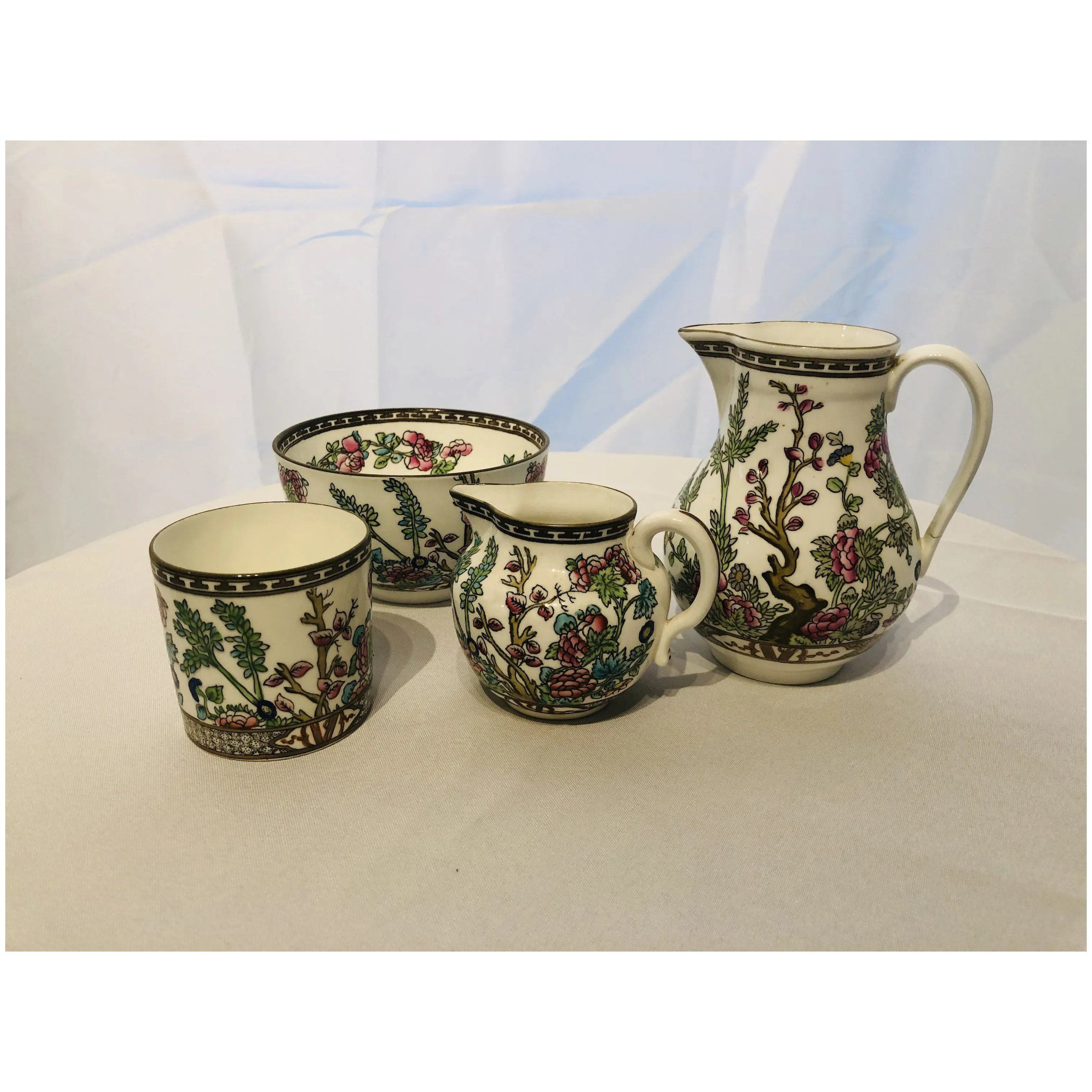 Coalport Indian Tree 4 pieces Made in England Jug
