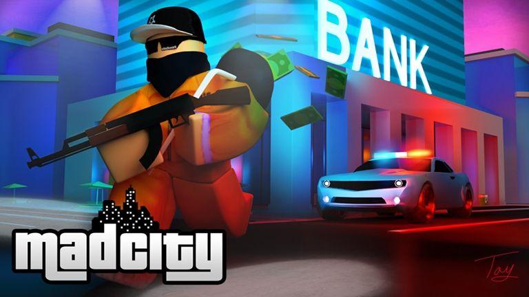 1 Mad City Minigun Roblox Roblox City Super Villains