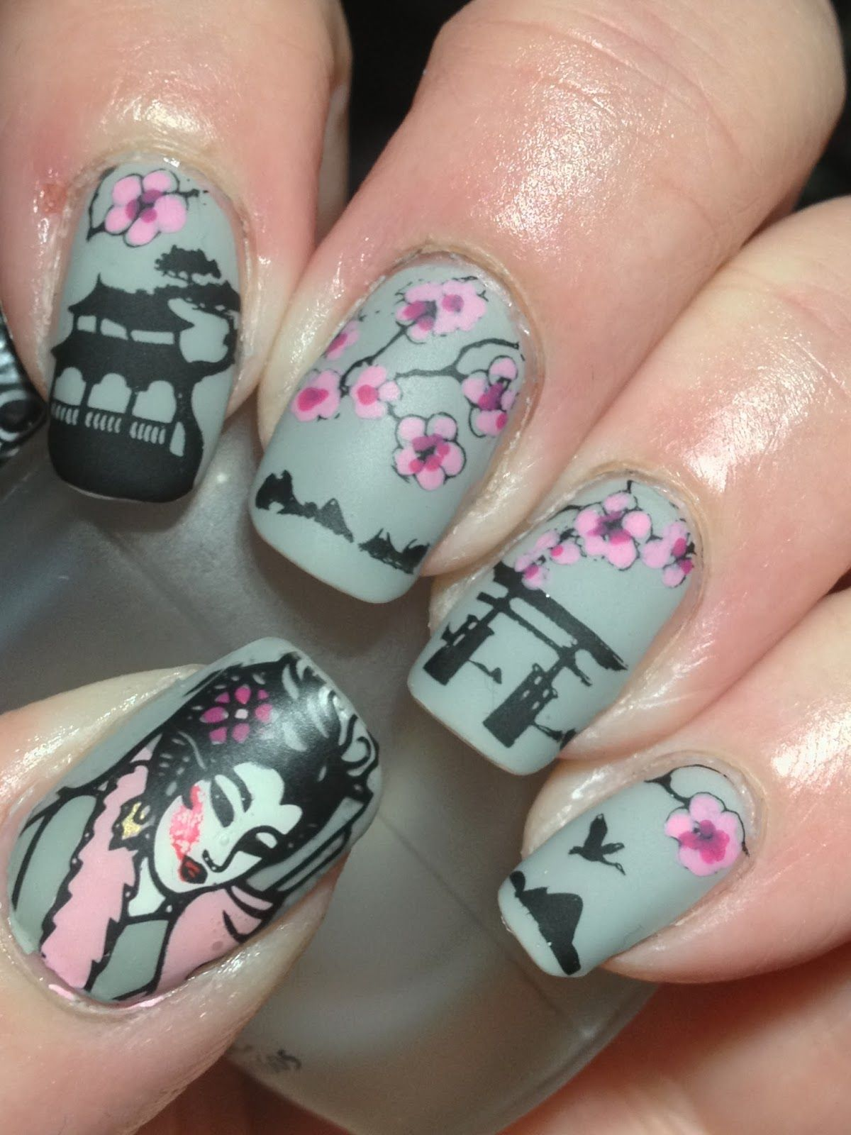 Canadian nail fanatic cherry blossoms cherry blossom