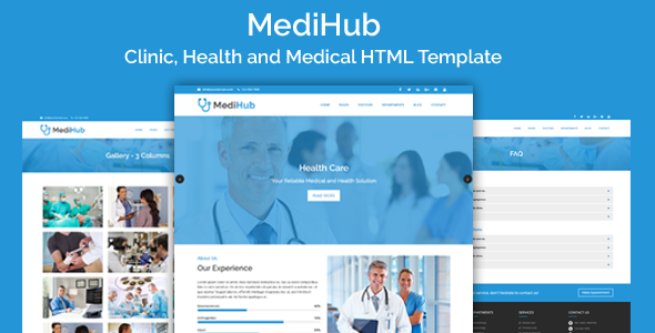 cool MediHub - Clinic, Wellness and Health-related HTML Template ...