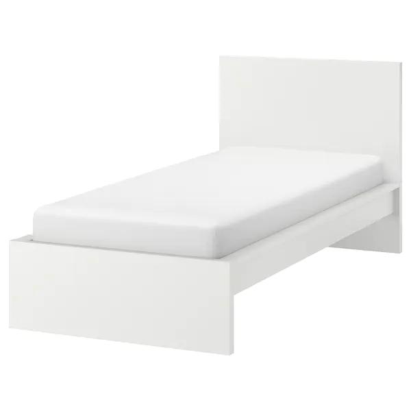 Malm Rama Lozka Wysoka Bialy Luroy 90x200 Cm Kup Tutaj Ikea Malm Bed Malm Bed Frame White Bed Frame