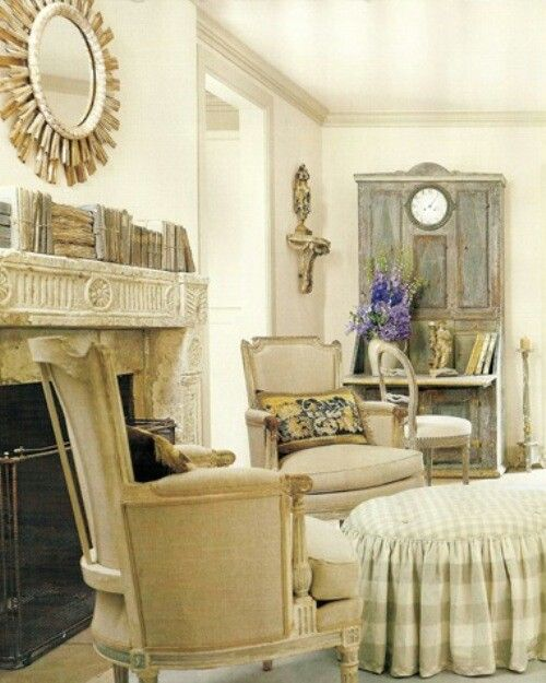 16 Stunning French Style Living Room Ideas: French Country Living Room