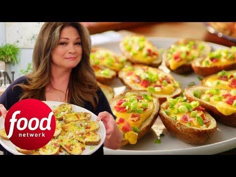 Valerie Bertinelli's Crispy Beer and Cheese Potato Skins | Valerie's Home Cooking