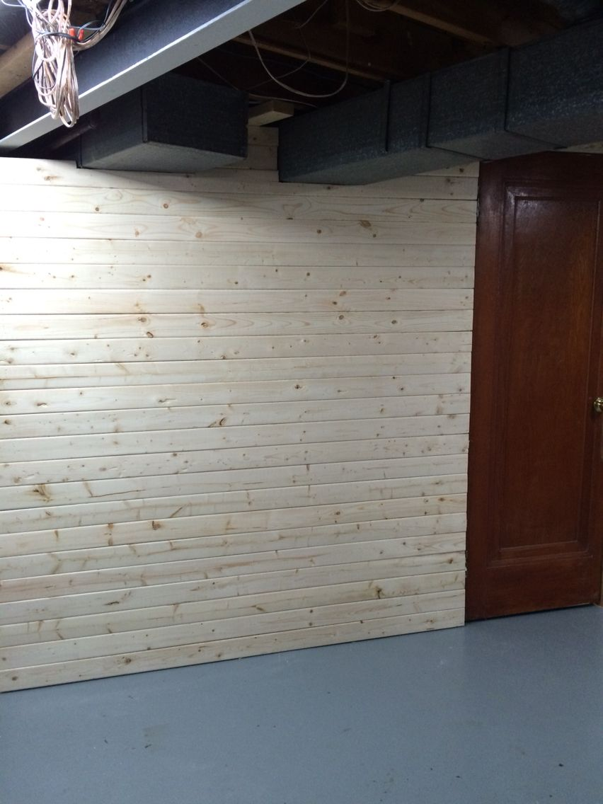 Instead Of Drywall Or Paneling We Did 1x4x6 S To Build A Room Much Easier