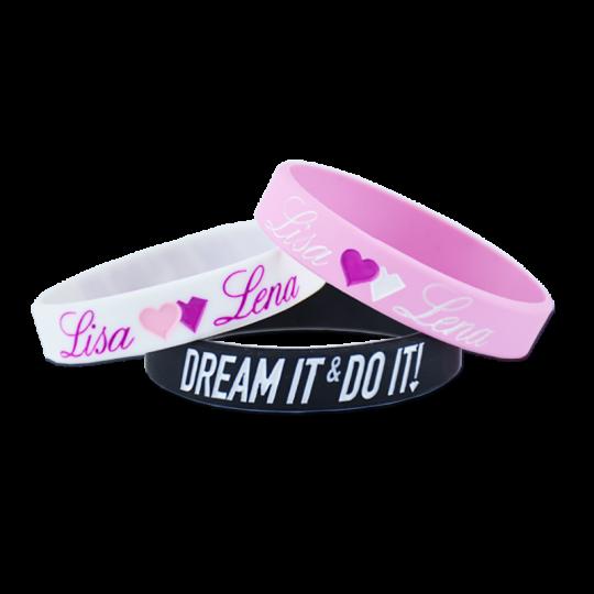 Dream it & do it! Wirstbands (3er Pack)