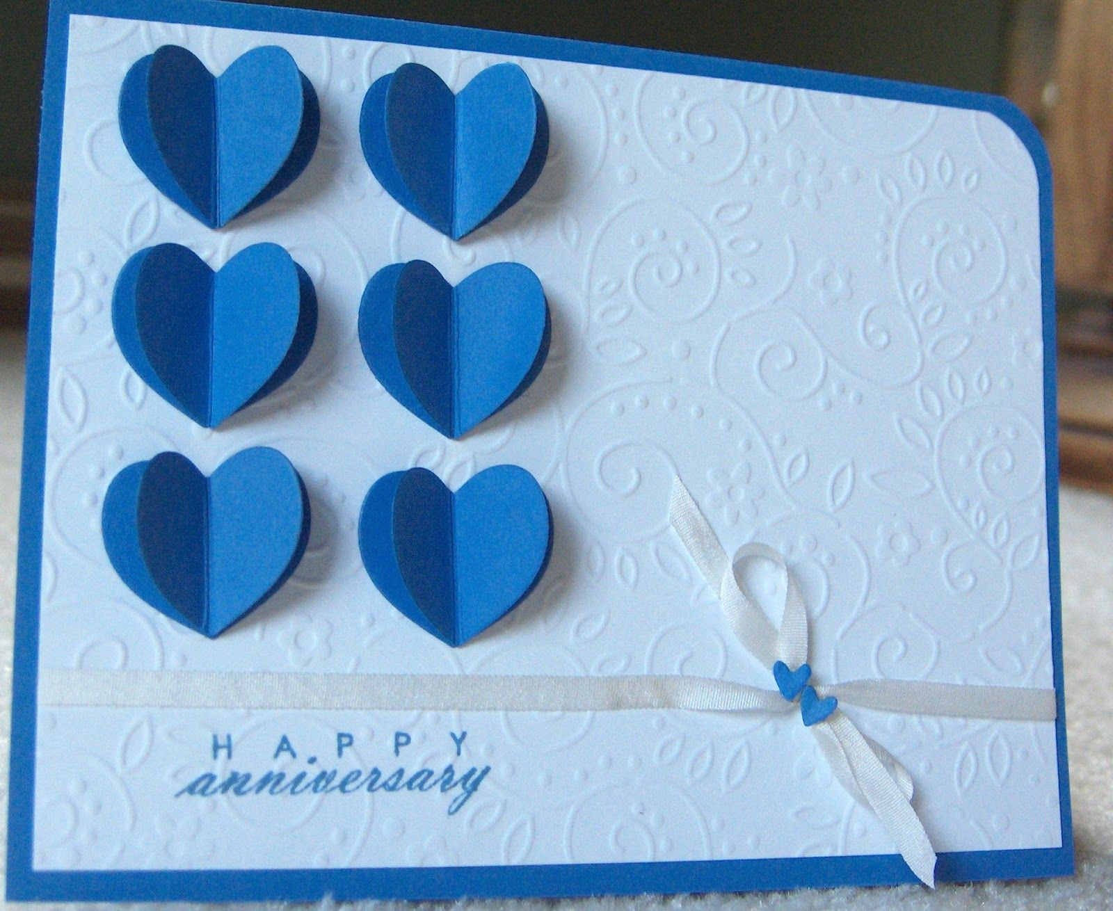 Ordinary Card Making Craft Ideas Part - 14: Anniversary Cards Ideas To Make | Wanted To Add More Texture To The Card So  I