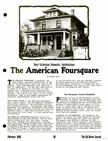 The American Foursquare In Old House Journal Google Books P29