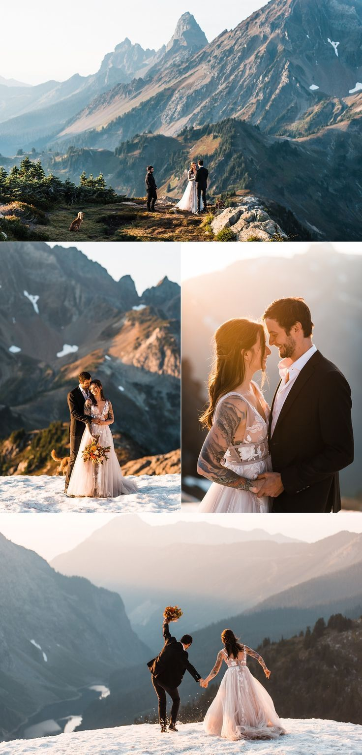 Photo of North Cascades elopement. Check out this adventure elopement blog for elopement …
