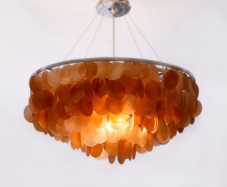 Capize lamp shell lighting orange capiz ceiling light earth tones lighting mozeypictures Image collections