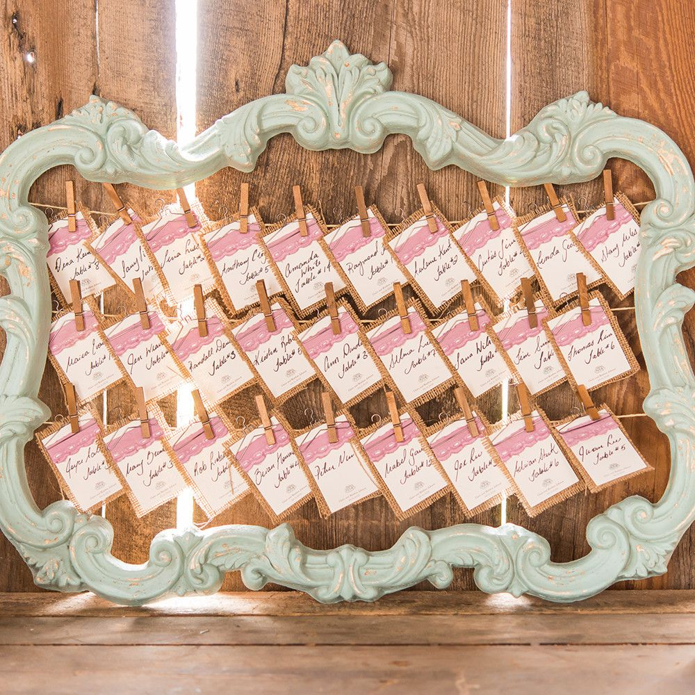 Chic White Wedding Theme: Open Ornate Vintage Inspired Frame In Antique White Or