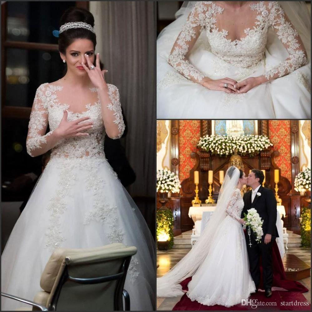 Best Vintage Wedding Dress Designers Luxury 2016 Best Selling Long Sleeve Lace Weddi In 2020 Unique Wedding Gowns Long Sleeve Wedding Dress Lace Bridal Dresses Vintage