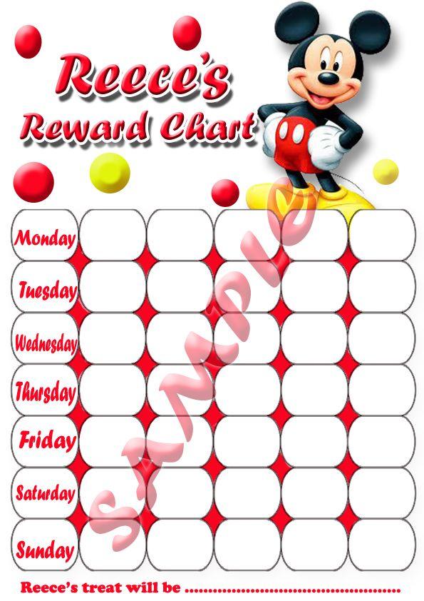 Personalised CHILDRENS Potty Training / Behaviour / Reward charts + - progress chart for kids