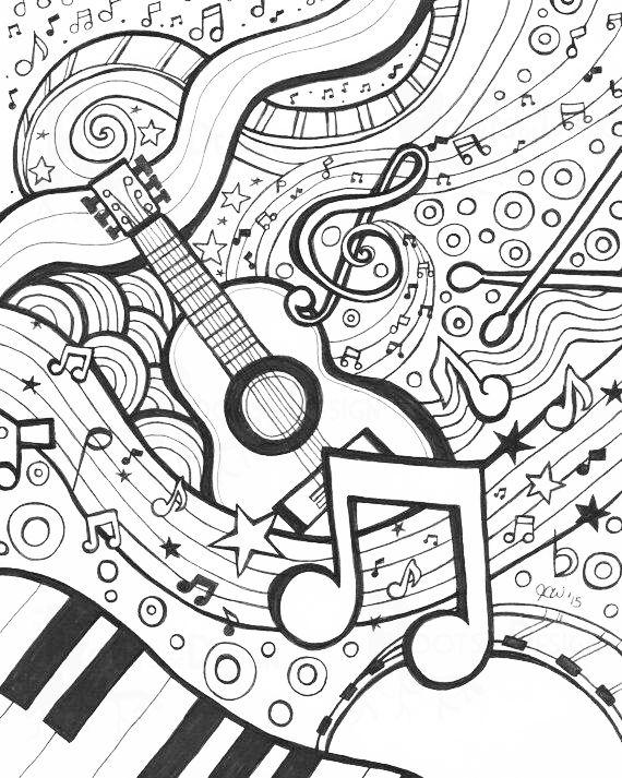 Colorir Paginas Para Colorir Para Adultos Imagens Musicais