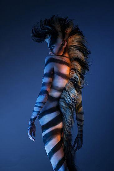 Zebra Kostüm selber machen #bodypainting