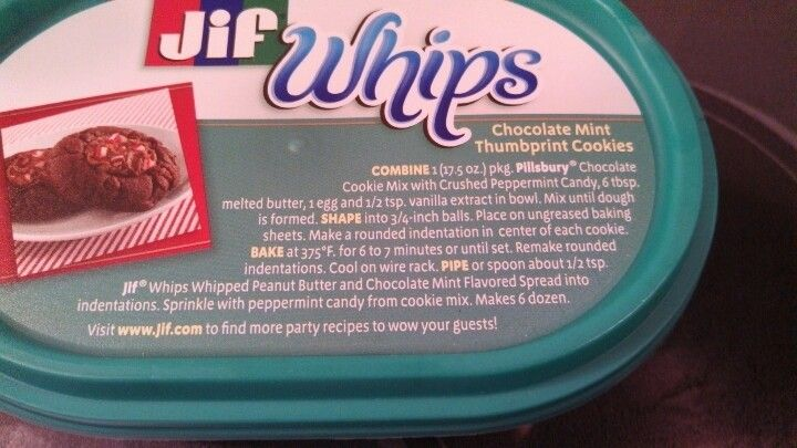 Yummy cookies...awesome whipped peppermint peanut butter.