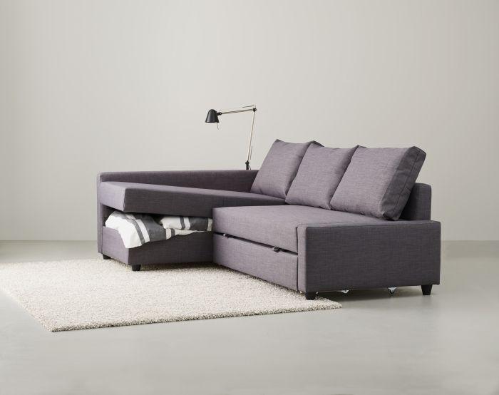 Ikea schlafcouch friheten  Maak van je woonkamer een slaapkamer met deze FRIHETEN slaapbank ...