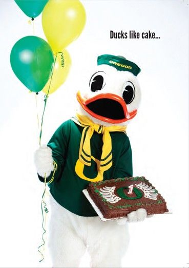 the best attitude d7ef7 475ec Oregon Duck mascot greeting cards available online thru The ...