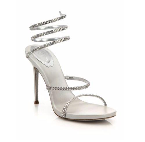 3fefa4c4dd8 Leather Crystal Swirl Sandals by Rene Caovilla in Fifty Shades Darker