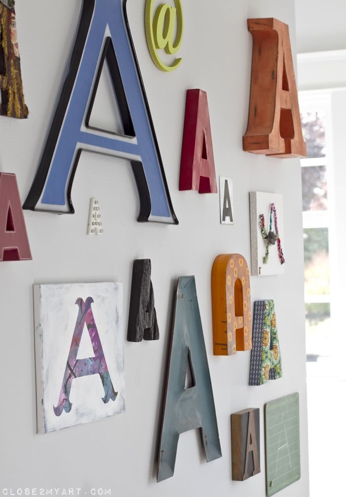 typography wall decor letter a large - Letter Decor
