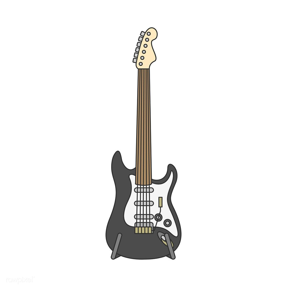 Electric Guitar Illustration Isolated On White Free Image By Rawpixel Com With Images Guitar Illustration Guitar Illustration
