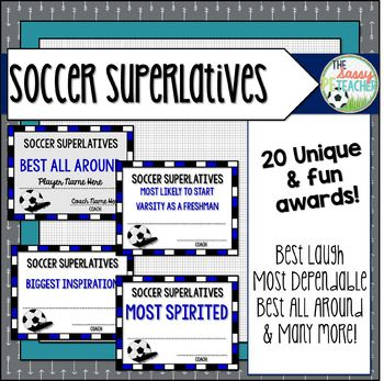 Superlative Awards Soccer Soccer Team Gifts Soccer Awards Girls Soccer Team
