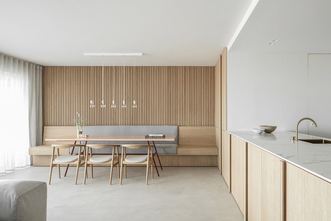 Residence Lc Nils Van Der Celen Meubles Integres Maison Minimaliste Et Grand Meuble