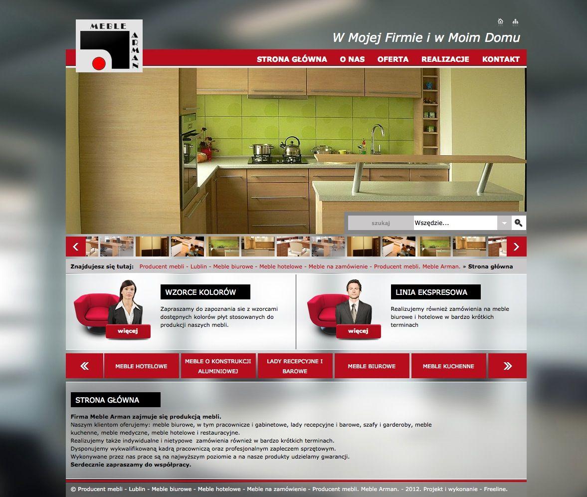 Firma Meble Arman Zajmuje Sie Produkcja Mebli Swoj Asortyment Prezentuje Na Wykonanej Przez Nas Stronie Www Meblearman Pl Serwis Www Lublin Desktop Shopping