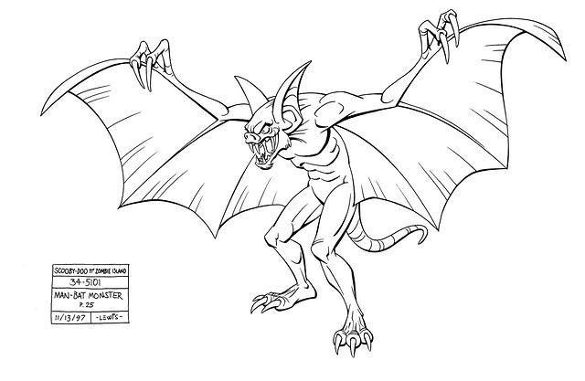 Scooby Zombie Island Man Bat Monster