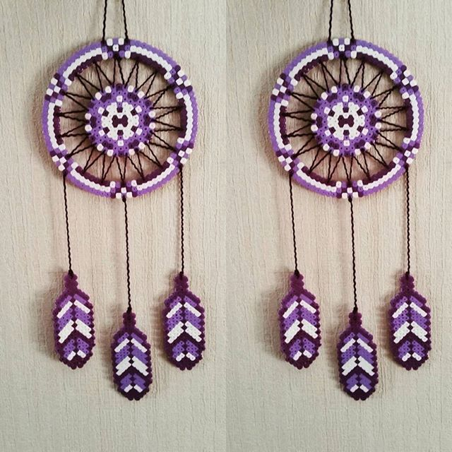 Dreamcatcher hama beads by sistyria fun stuff for tweens for Dreamcatcher beads meaning