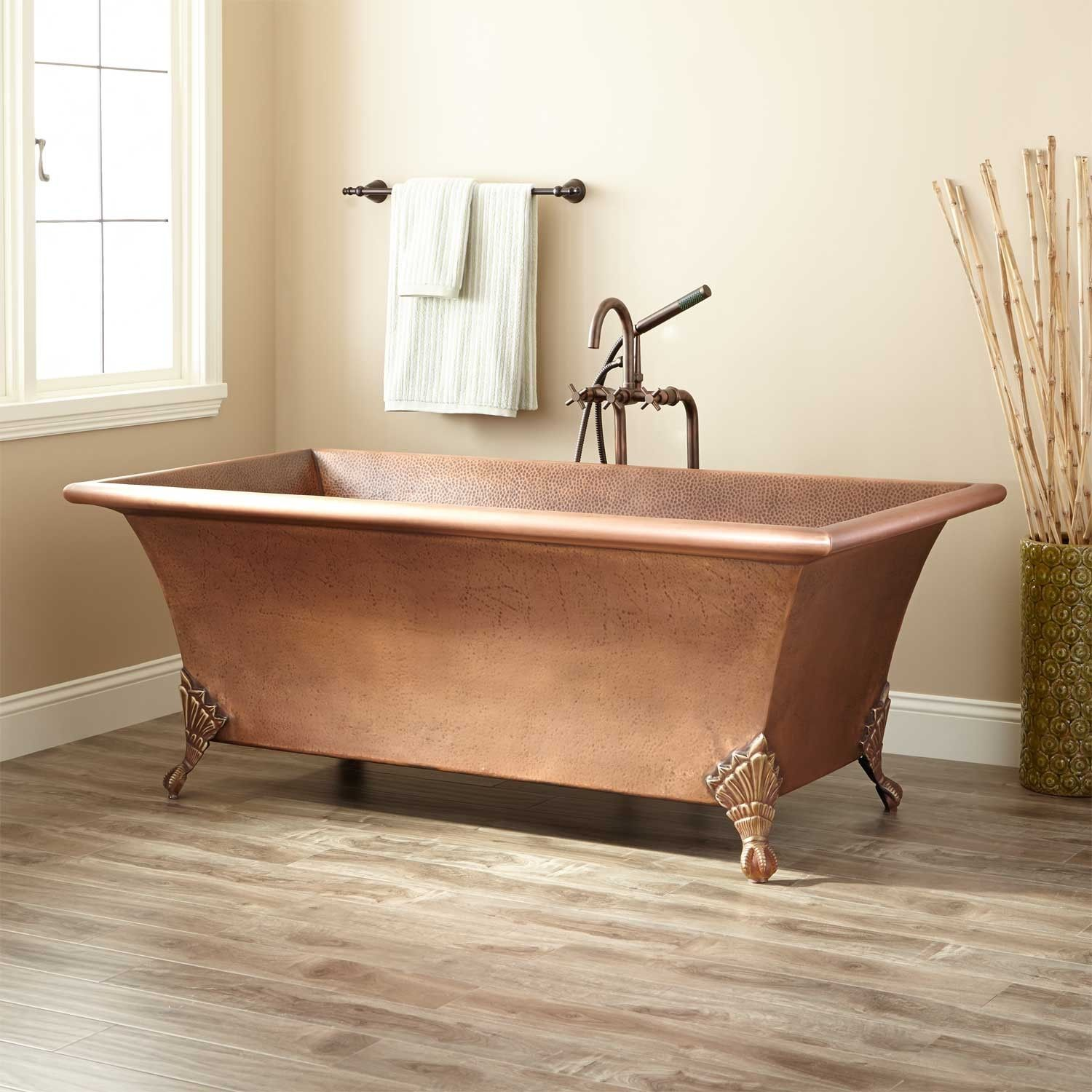 65 Crawford Hammered Copper Clawfoot Tub In 2019 Bathrooms