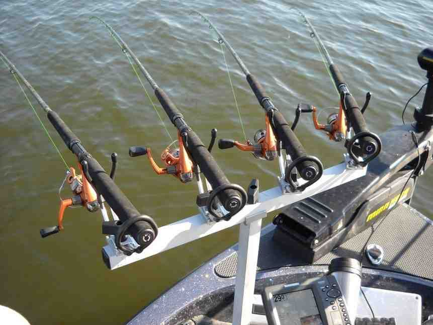 Crappie rod holders for boats tv rod holders pinterest for Boat fishing rod holders