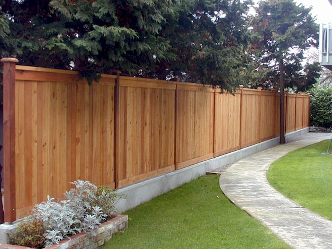 70 Wooden Privacy Fence Patio Backyard Landscaping Ideas