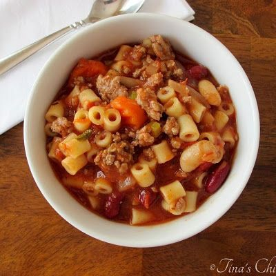 My Pasta Fagioli Soup @keyingredient #soup #vegetables #tomatoes