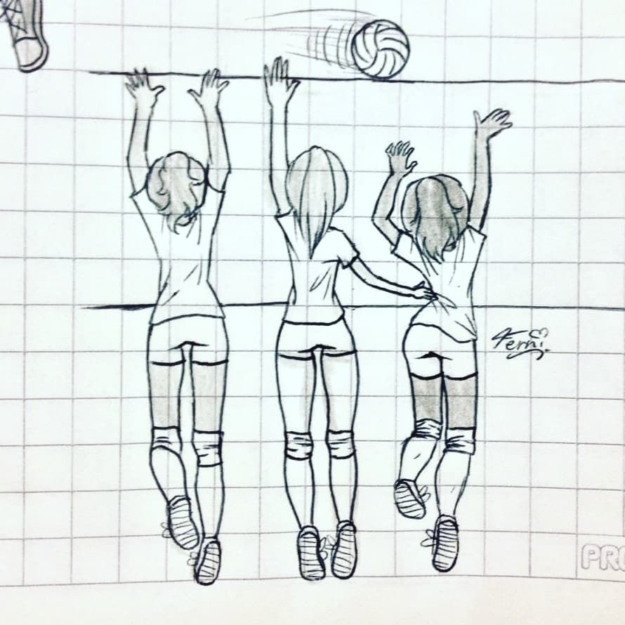 Pallavolo Volleyball Drawing Sports Drawings Sketches