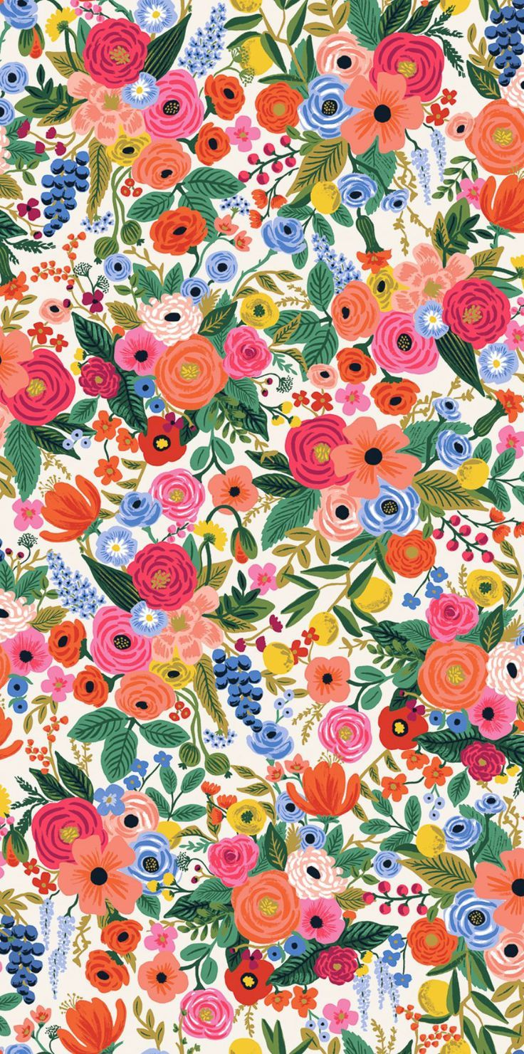 Wildwood - Garden Party Cream - fabric by Rifle Paper Co for Cotton + Steel - 100% quilting-weight cotton fabric