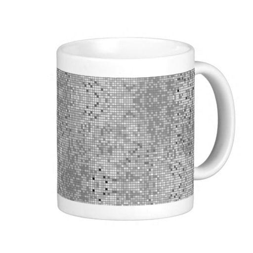 Black White And Gray Geometric Pattern Mugs