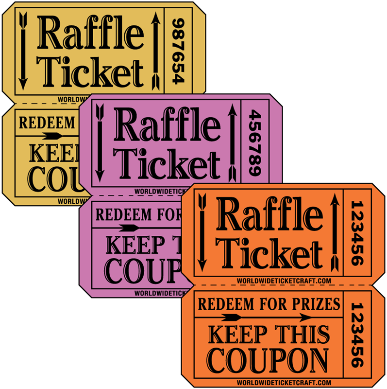 our raffle tickets on a roll make fundraising easy each ticket has