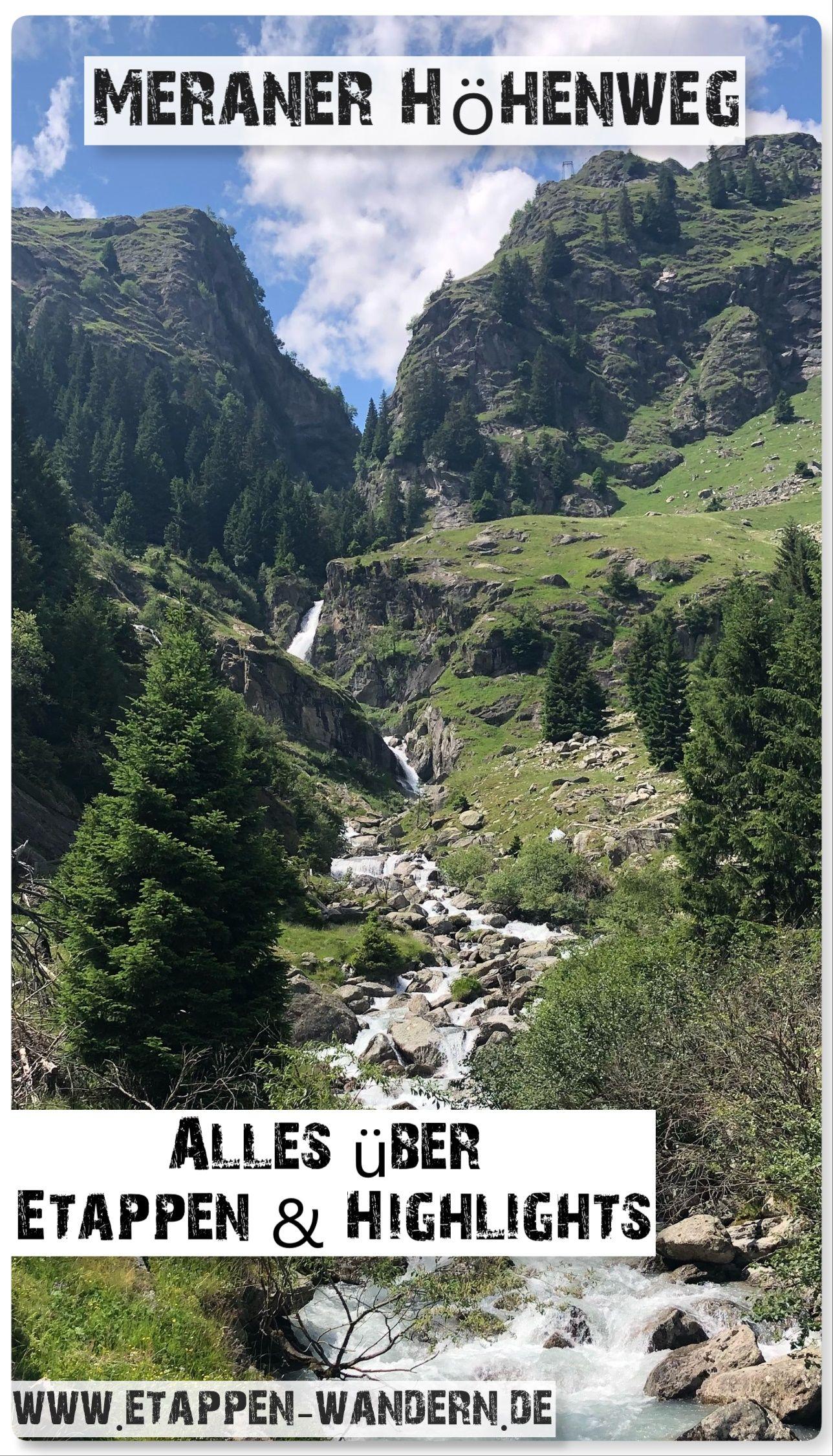 Meraner Höhenweg las etapas y lo más destacado