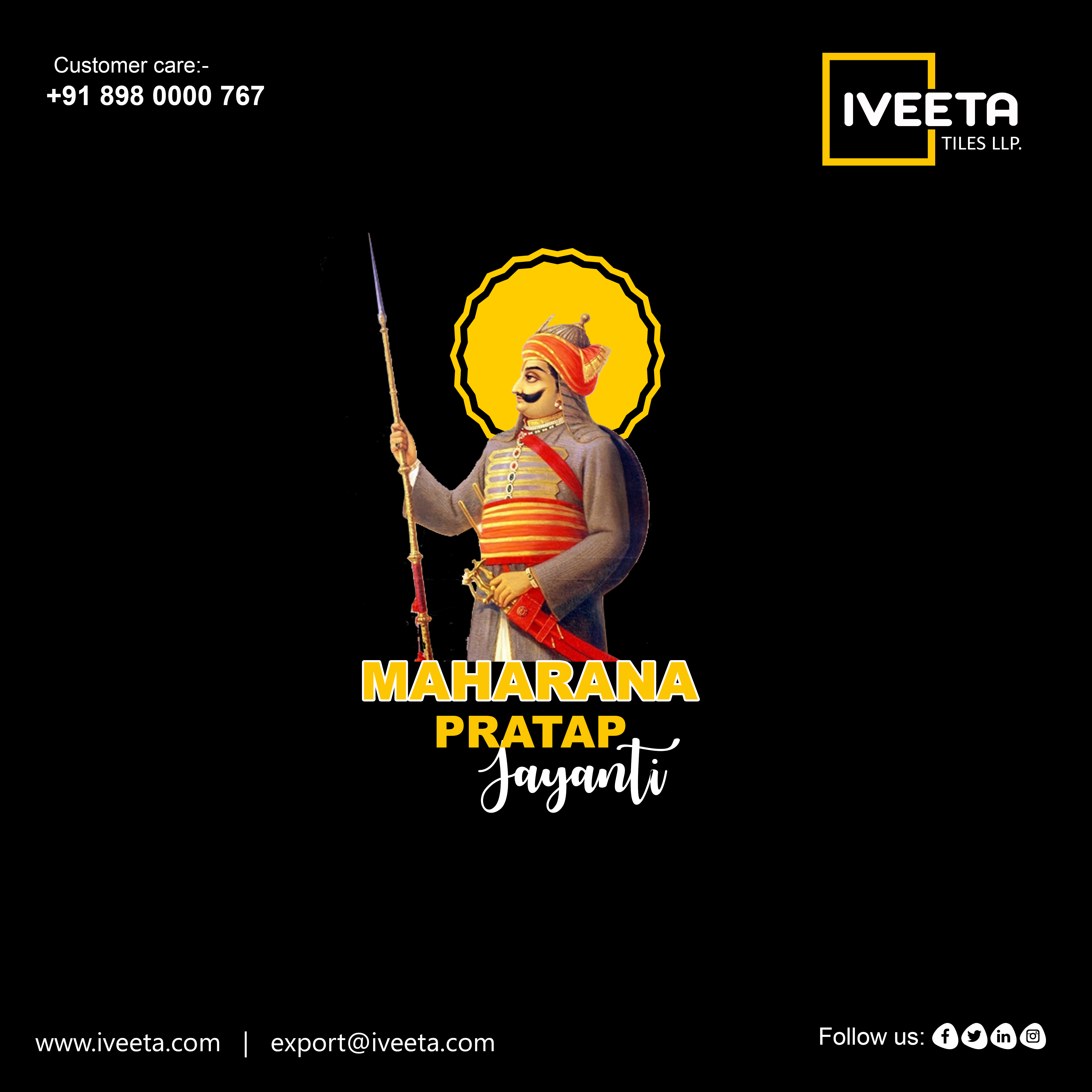 Happy Maharana Pratap Jayanti IVEETA TILES LLP  WALL TILES