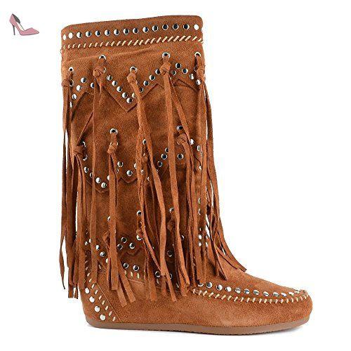 En Ash Boots Chaussures 41 Femme Daim Sienna Shilo awTxa