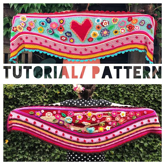 Nl/US/UK tutorial pattern how to design and crochet a #polleviewrap ...