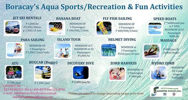 Mola Ad Acqua Jet.Boracay S Aqua Sports Recreation Activities Activities