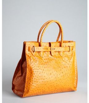 7529e02f7c shopstyle.com: Furla mandarin ostrich-embossed leather 'Greta' large  shopper tote