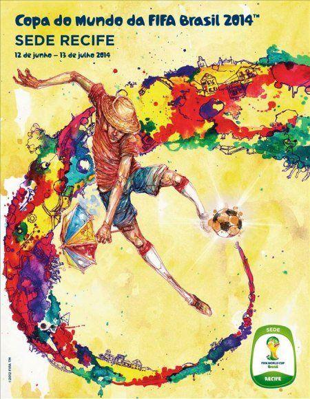 Cartaz sede Recife - Copa 2014