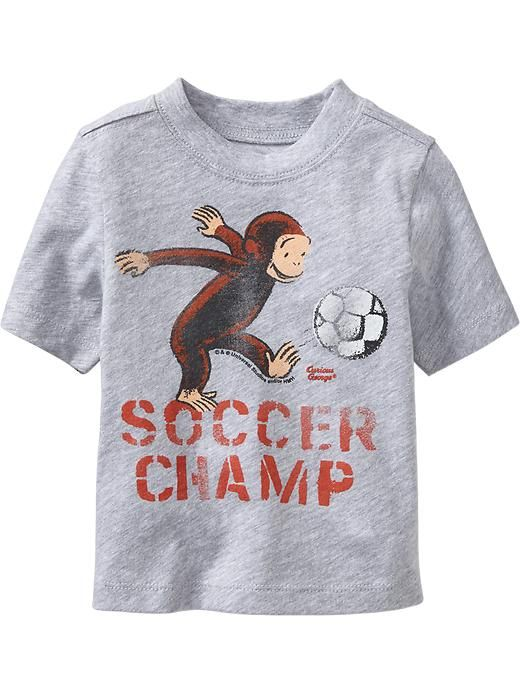 Curious George® Soccer Tees for Baby Product Image