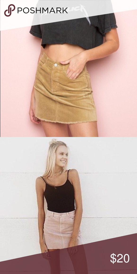 781b969d8d Tan Juliette cordoury skirt Brand new with tags! The classic Juliette skirt  from brandy Melville