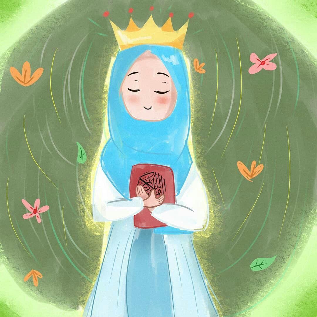 Pin oleh س di Muslim anime Seni islamis, Animasi, dan Kartun